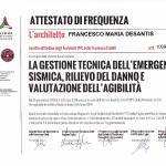 Corso di gestione tecnica emergenza sismica